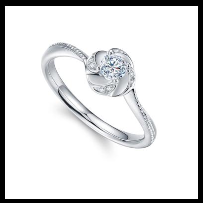 恬静典雅茉莉香30分钻石戒指