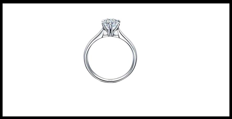 18K金鸢尾花钻石戒指