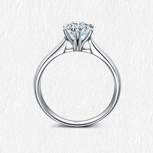 18K金钻石戒指-30分E色求婚订婚结婚钻戒女款 鸢尾