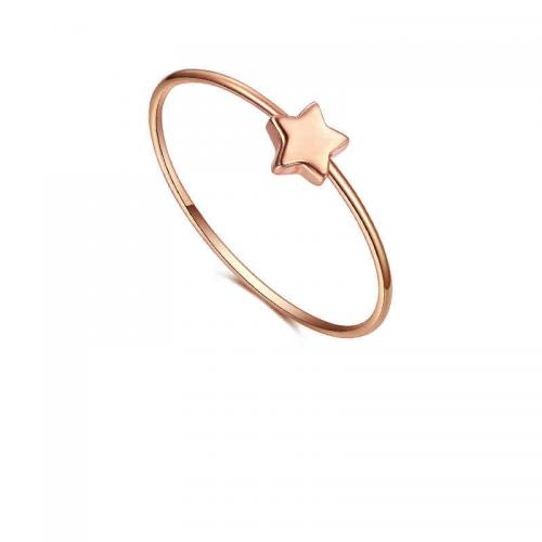 星星方块 彩金戒指女款玫瑰金18k金女戒