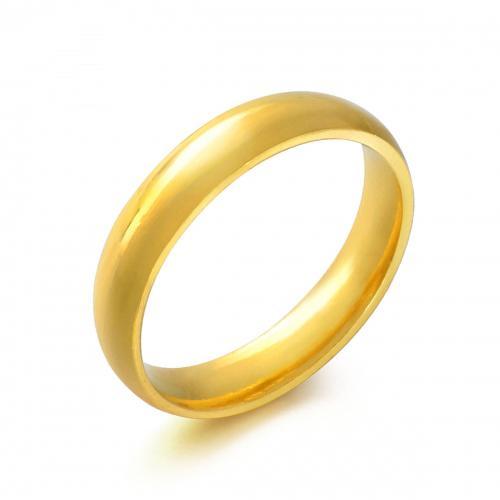 黄金首饰足金饰品指环光身戒指对戒男女款