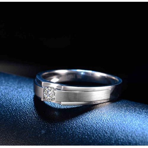 玫瑰金钻石戒指男女结婚求婚铂金pt950钻戒对戒