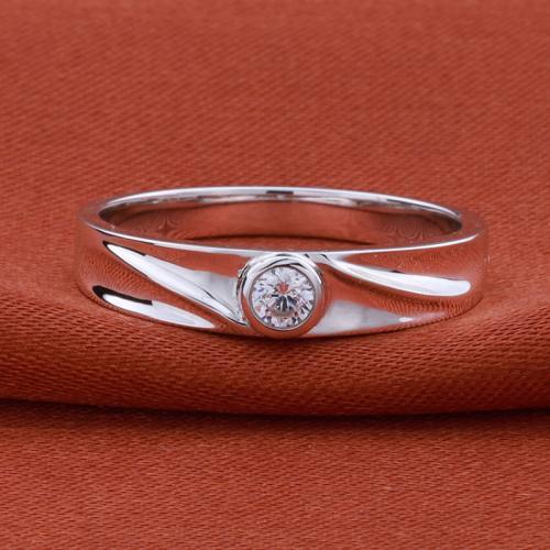 18K金钻石戒指女白金情侣订婚求婚钻戒结婚单钻15分男钻戒