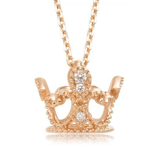 18K红色黄金钻石项链