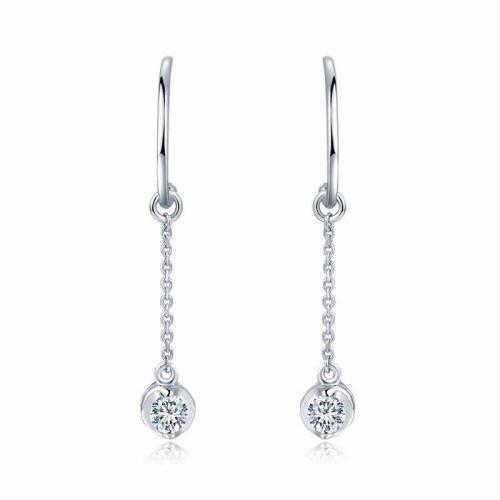 18K金钻石耳钉-珠光-耳饰耳坠耳环耳钉-正品