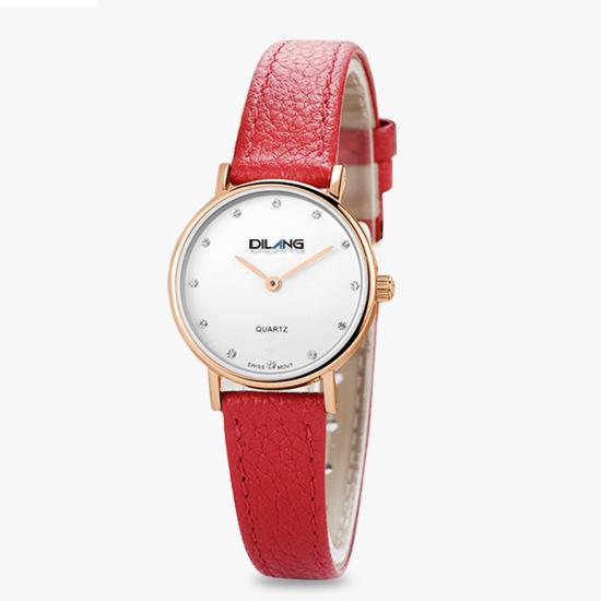 帝浪(DILANG)女士手表进口石英机芯简约女生手表防水送女友