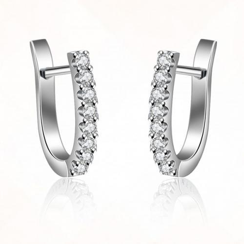 德西尔钻石耳环 正品18K白耳钉时尚个性求婚结婚耳钉女款