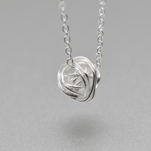 可爱温暖线团毛球925纯银项链百搭锁骨链女新年礼物