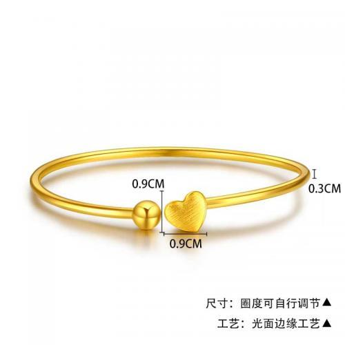 黄金手镯女足金弹力金镯子正品手链时尚首饰饰品