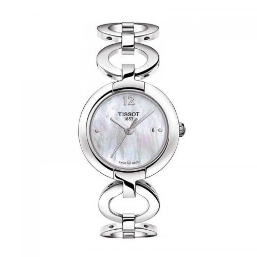 天梭(TISSOT)瑞士手表 粉彩系列石英表瑞士时尚钢带手表女T084.210.11.117.01