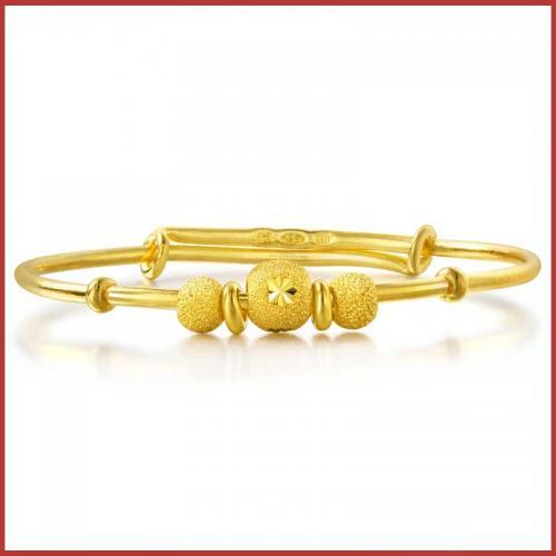 黄金手镯满月BB婴儿宝宝手镯儿童金镯子 31484K计价