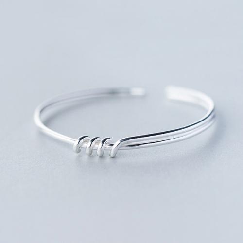 925银手镯女简约个性绳结手镯甜美纽结手环时尚气质手饰
