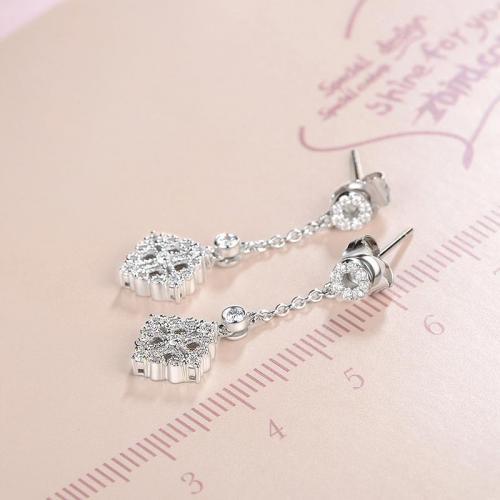 18K金钻石耳钉-花圃-耳环女款耳钉耳坠