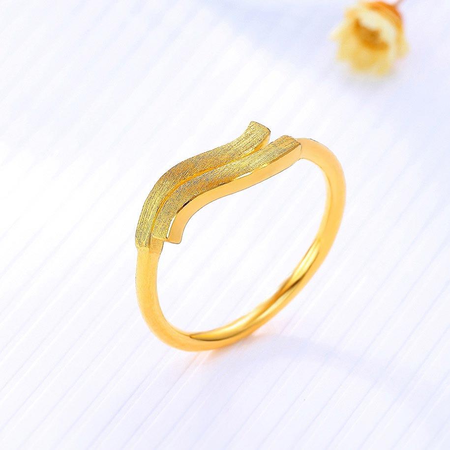 十二星座之风象星座——黄金戒指足金女戒活圈口