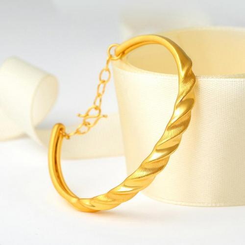 3D硬金黄金手镯足金999纯金婚嫁金镯子送妈妈礼物