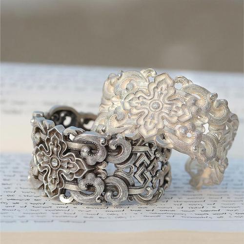 银手镯手工纯银个性镯子民族风男女款情人节礼物