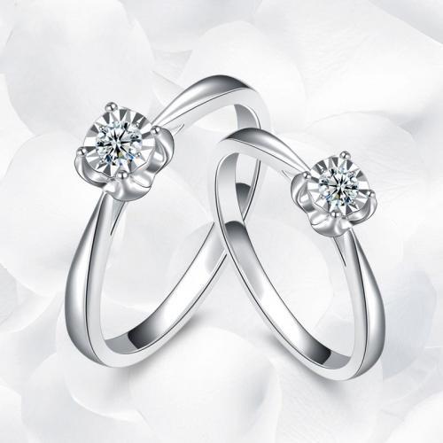 钻戒正品克拉效果18K金女钻石戒指送女友结婚求婚指环