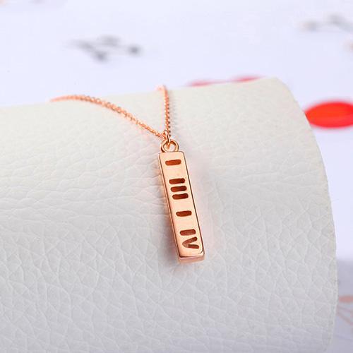 18k金项链女款一生一世黄金彩金时尚玫瑰金项链套链