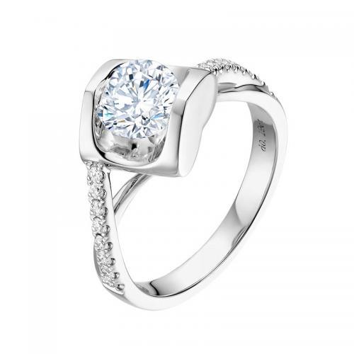 JUST YOU系列求婚订婚钻石戒指 耀世 50分 F色
