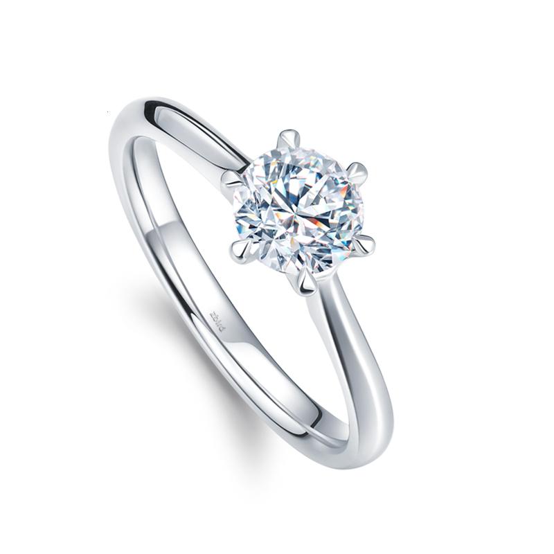 DESIRE/德西尔18K金求婚结婚钻戒钻石戒指女款婚戒女戒鸢尾正品