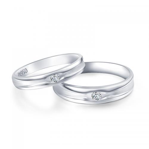 铂金钻石结婚对戒DESIRE正品情侣七夕礼物