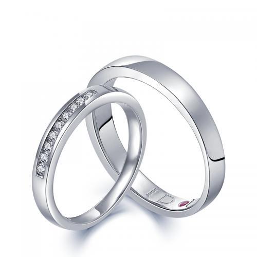 DESIRE/德西尔真爱加冕18K金钻石对戒婚戒情侣戒官方正品