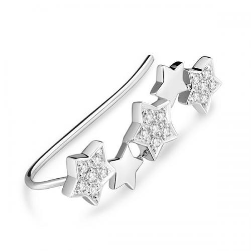 DESIRE德西尔珠宝 18K金钻石单只耳钉可爱星星耳钉盒装...