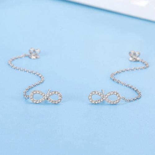 DESIRE/德西尔珠宝 白18K金钻石耳钉耳饰时尚耳贴耳环