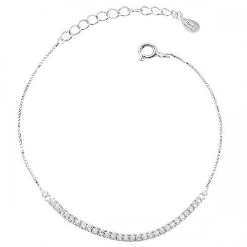 白18K金群镶钻石手链女款时尚优雅K金手链