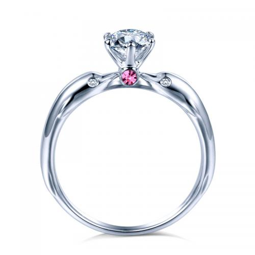 18K金结婚求婚海豚钻石戒指定制白金铂金玫瑰金