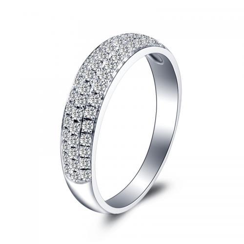 18K金钻戒女1克拉结婚求婚钻石戒指定制铂金白金婚戒对戒正品