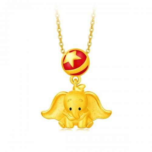 小飞象星星转运珠足金黄金吊坠