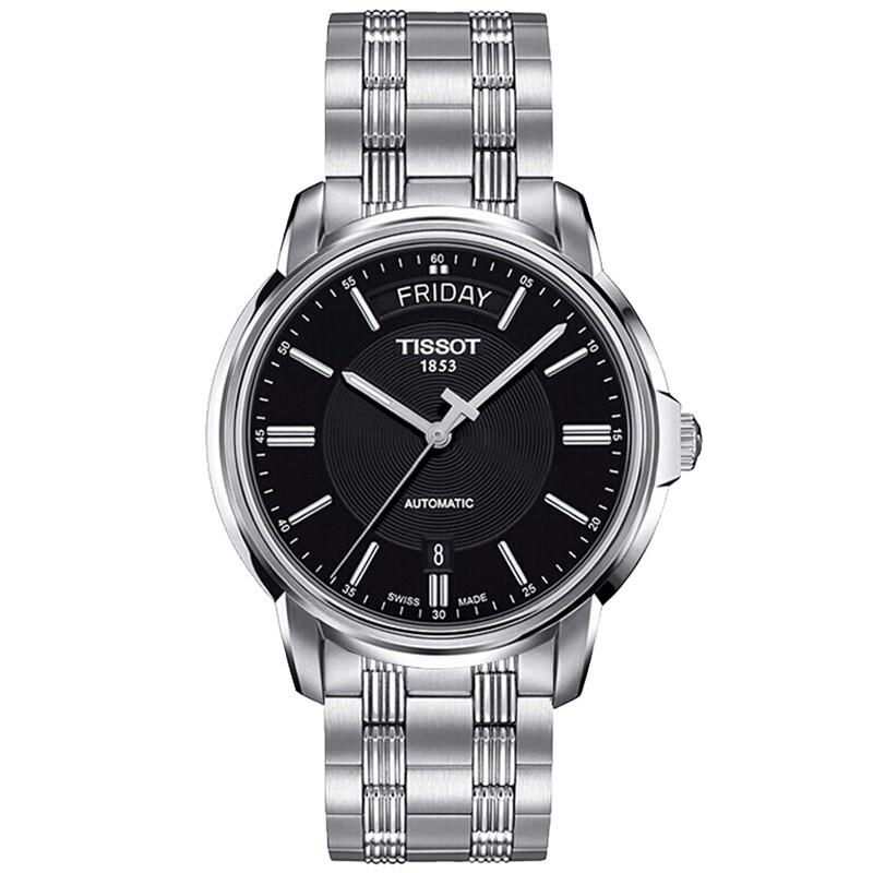 天梭(TISSOT)瑞士手表 恒意自动机械钢带日历显示手表男表T065.930.11.051.00