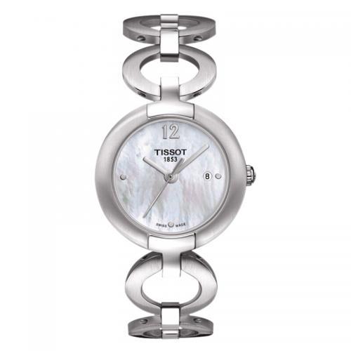 天梭(TISSOT)瑞士手表 粉彩系列石英表瑞士时尚钢带手表...