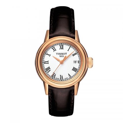 天梭(TISSOT)瑞士手表 卡森系列钢带石英情侣表女士手表...