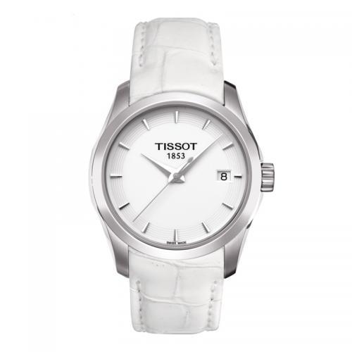 天梭(TISSOT)瑞士手表 库图系列皮带石英女士手表T03...