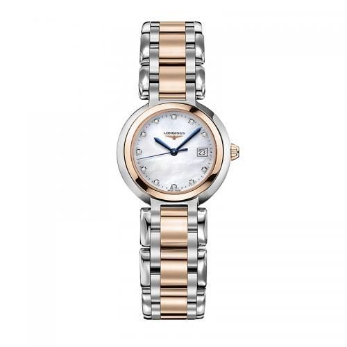 浪琴(Longines)瑞士手表 心月官方正品手表女包金镶钻石英表L8.109.5.78.6