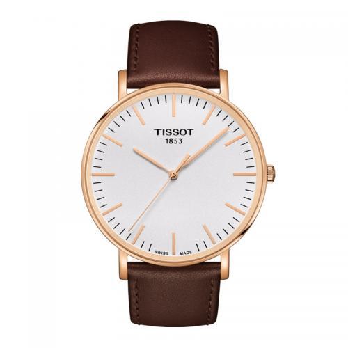 天梭(TISSOT)瑞士手表 魅时系列皮带石英男士手表T10...