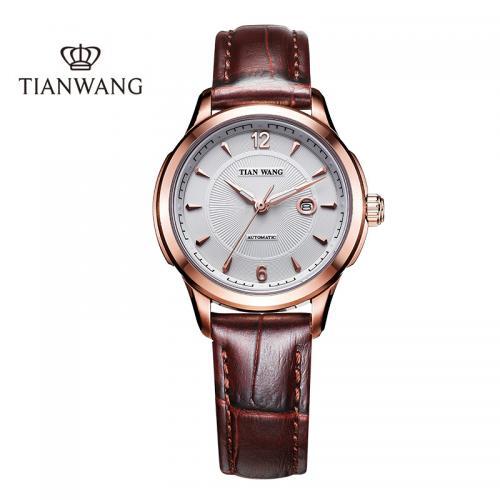 天王表(TIANWANG)手表 经典女表机械表皮带女士腕表5...